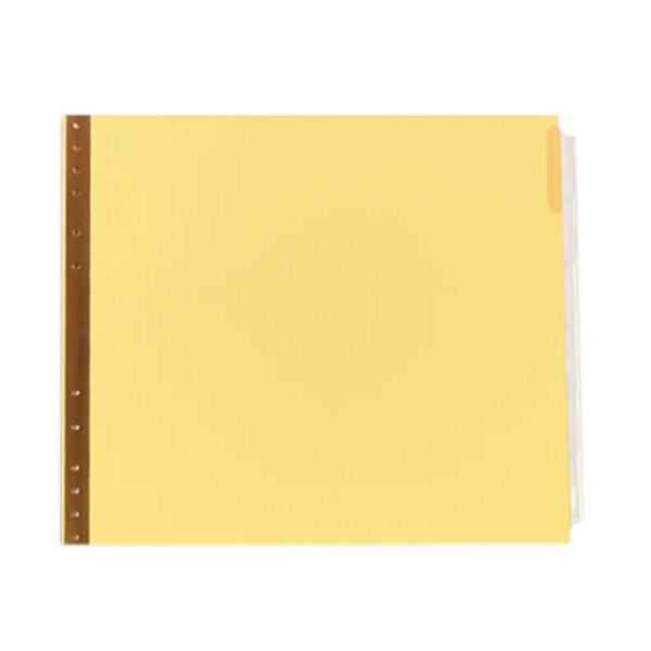 Avery 11730 6-Tab Clear Insertable Data Binder Dividers Main Image 1