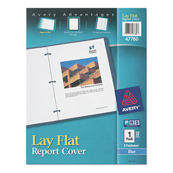 report cover with window