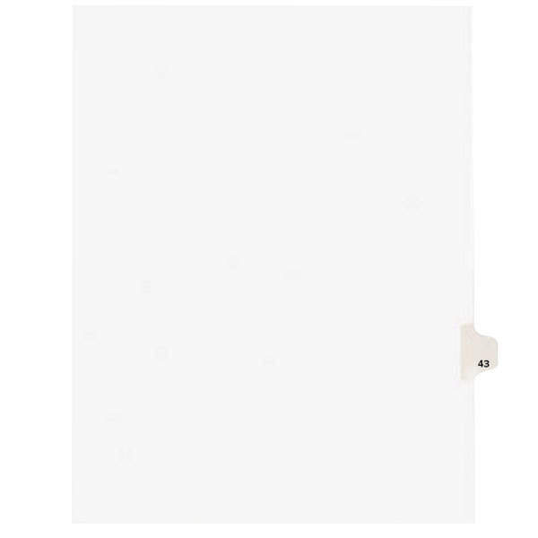 Avery 1043 Individual Legal Exhibit #43 Side Tab Divider - 25/Pack Main Image 1