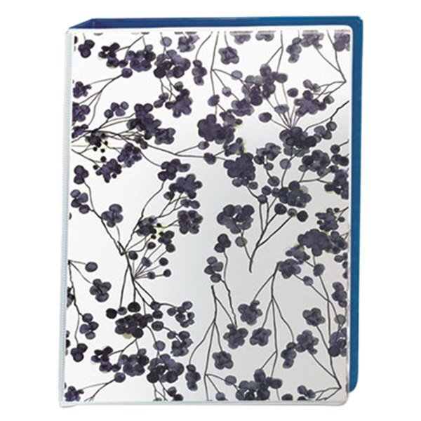 "Avery 18444 Floral/Navy Mini Durable Non-View Style Binder with 1"" Round Rings"