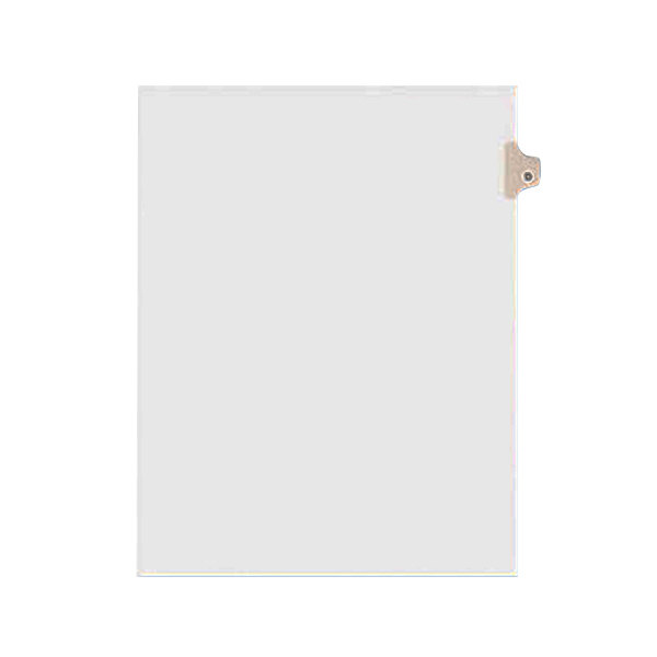 Avery 1404 Individual Legal Exhibit D Side Tab Divider - 25/Pack Main Image 1