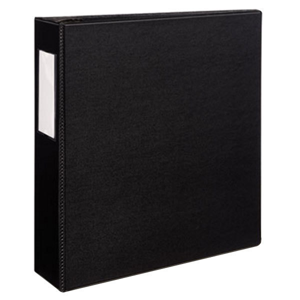 "Avery 8702 Black Durable Non-View Binder with 3"" Non-Locking One Touch EZD Rings and Spine Label Holder"