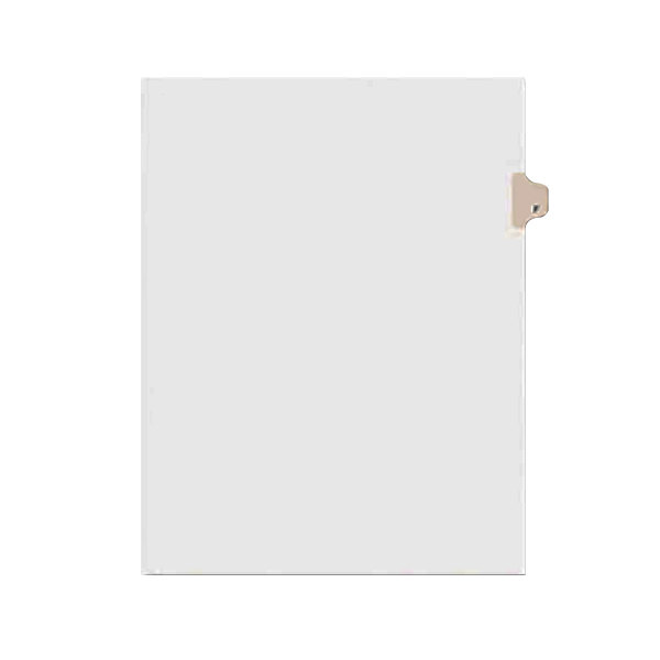 Avery 1406 Individual Legal Exhibit F Side Tab Divider - 25/Pack