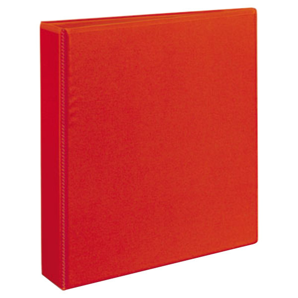"""Avery 79171 Red Heavy-Duty View Binder with 1 1/2"""" Locking One Touch EZD Rings Main Image 1"""