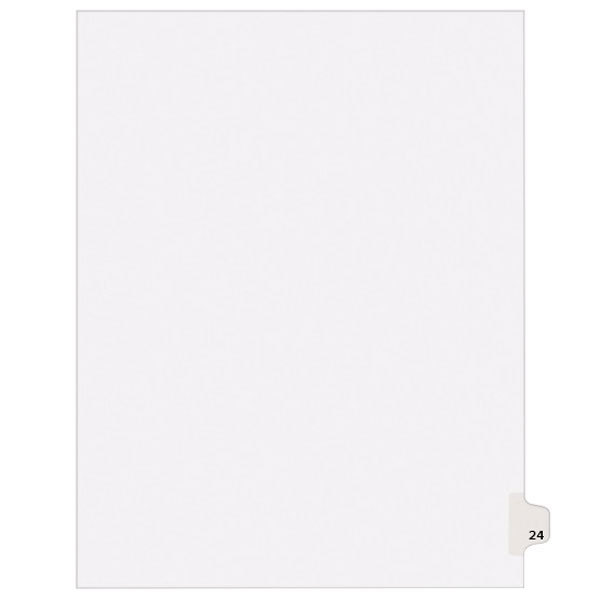 Avery 1024 Individual Legal Exhibit #24 Side Tab Divider - 25/Pack