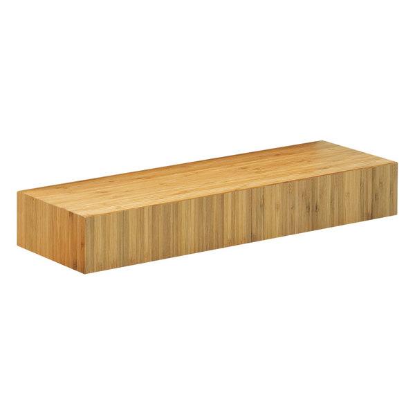 "Cal-Mil 166-3-60 Bamboo Rectangular Plate Riser - 20"" x 7"" x 3"""