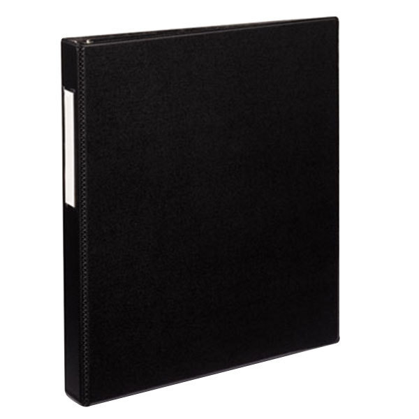 """Avery 8302 Black Durable Non-View Binder with 1"""" Non-Locking One Touch EZD Rings and Spine Label Holder Main Image 1"""