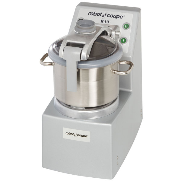 Robot Coupe R10 Food Processor with 10 Qt. Stainless Steel Bowl - 4 1/2 hp Main Image 1