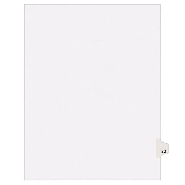 Avery 1022 Individual Legal Exhibit #22 Side Tab Divider - 25/Pack Main Image 1