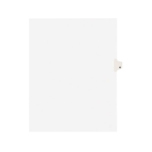 Avery 1411 Individual Legal Exhibit K Side Tab Divider - 25/Pack