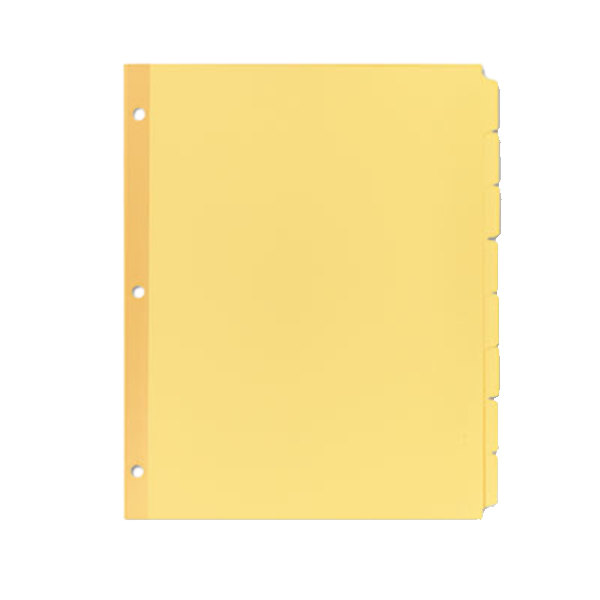 Avery 11505 Write-On 8-Tab Buff Paper Divider Set - 24/Box