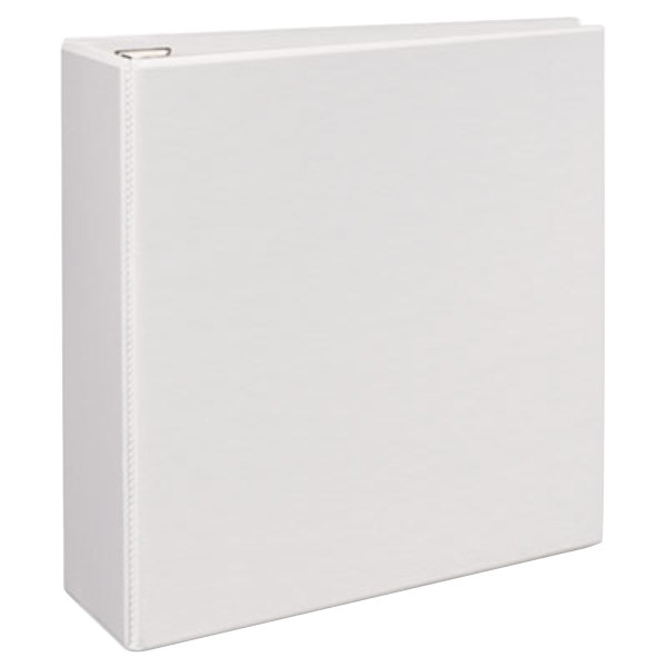 "Avery 79104 White Heavy-Duty View Binder with 4"" Locking One Touch EZD Rings Main Image 1"