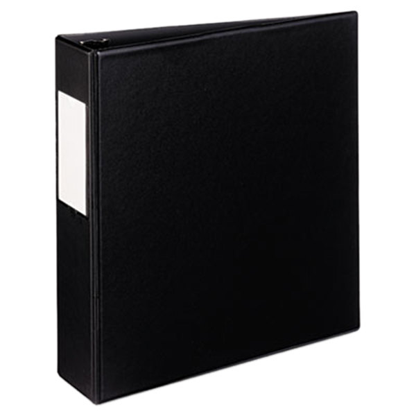 """Avery 27554 Black Mini Durable Non-View Binder with 2"""" Round Rings and Spine Label Holder Main Image 1"""