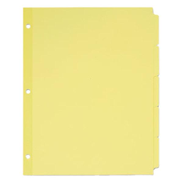 Avery 11501 Write-On 5-Tab Buff Paper Divider Set - 36/Box Main Image 1