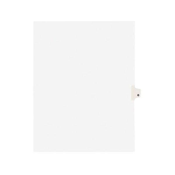 Avery 1415 Individual Legal Exhibit O Side Tab Divider - 25/Pack Main Image 1