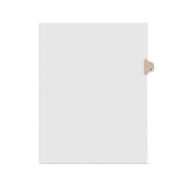 Avery 1408 Individual Legal Exhibit H Side Tab Divider - 25/Pack Main Image 1
