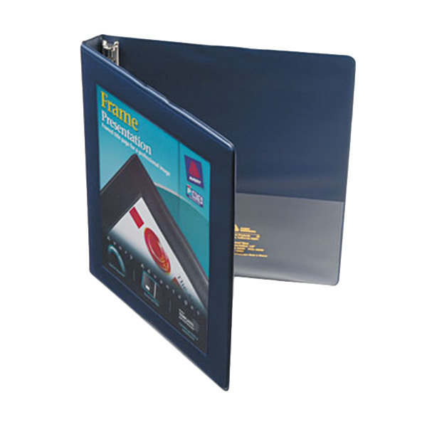 "Avery 68051 Navy Blue Heavy-Duty Framed View Binder with 1/2"" Slant Rings"