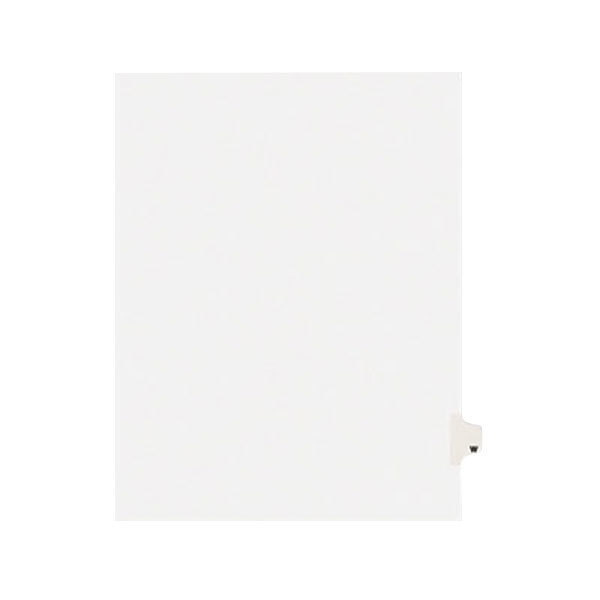Avery 1423 Individual Legal Exhibit W Side Tab Divider - 25/Pack Main Image 1