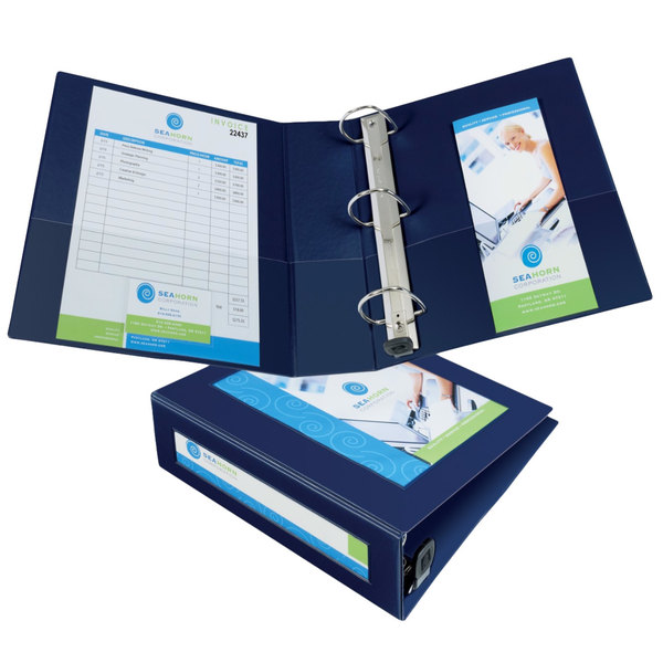 "Avery 68038 Navy Blue Heavy-Duty Framed View Binder with 3"" Locking One Touch EZD Rings Main Image 1"