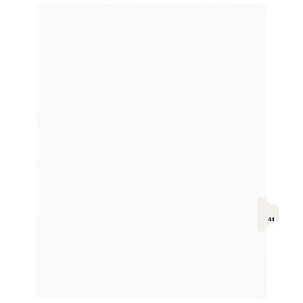 Avery 1044 Individual Legal Exhibit #44 Side Tab Divider - 25/Pack Main Image 1