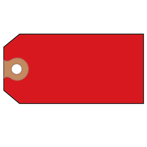 """Avery 12345 4 3/4"""" x 2 3/8"""" Red Paper Unstrung Shipping Tag - 1000/Box Main Image 1"""