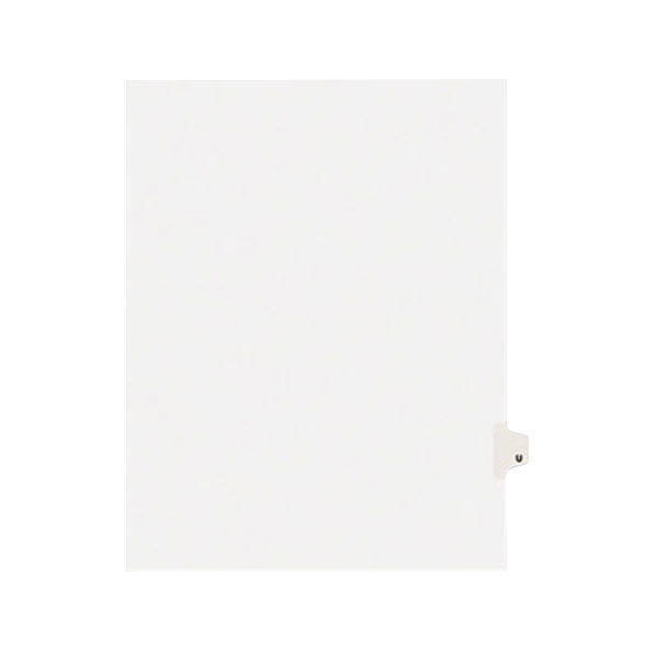 Avery 1421 Individual Legal Exhibit U Side Tab Divider - 25/Pack Main Image 1
