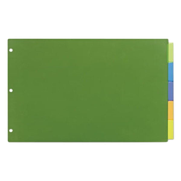 Avery 11178 Big Tab Ledger Size 5-Tab Multi-Color Insertable Plastic Dividers Main Image 1