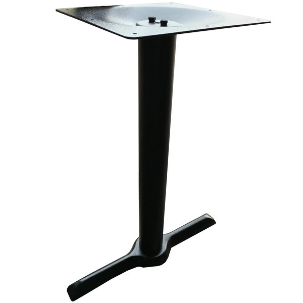 "Art Marble Furniture B10-0522J 22"" x 5"" Black Cast Iron Standard Height End Table Base"