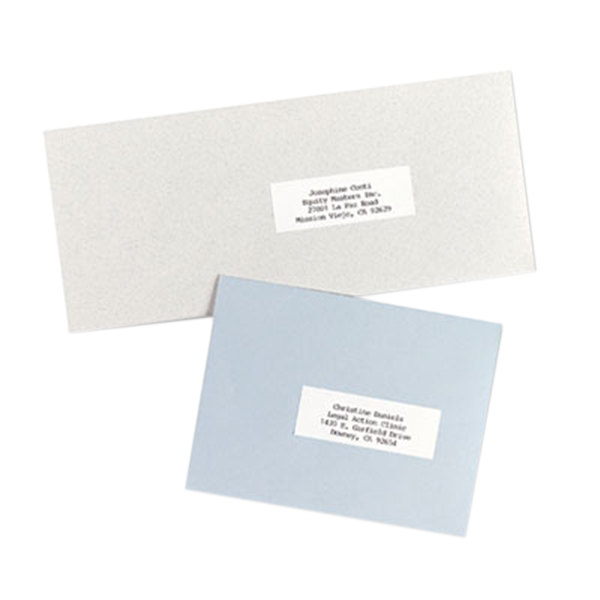 "Avery 5332 1"" x 2 13/16"" White Copier Mailing Address Labels - 8250/Box Main Image 1"