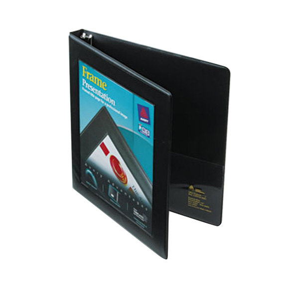 "Avery 68050 Black Heavy-Duty Framed View Binder with 1/2"" Locking One Touch Slant Rings"