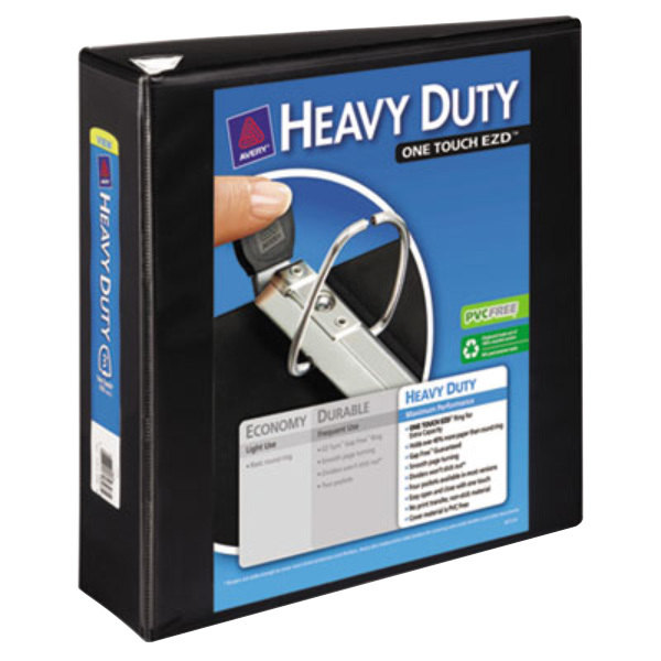 """Avery 79693 Black Heavy-Duty View Binder with 3"""" Locking One Touch EZD Rings Main Image 1"""