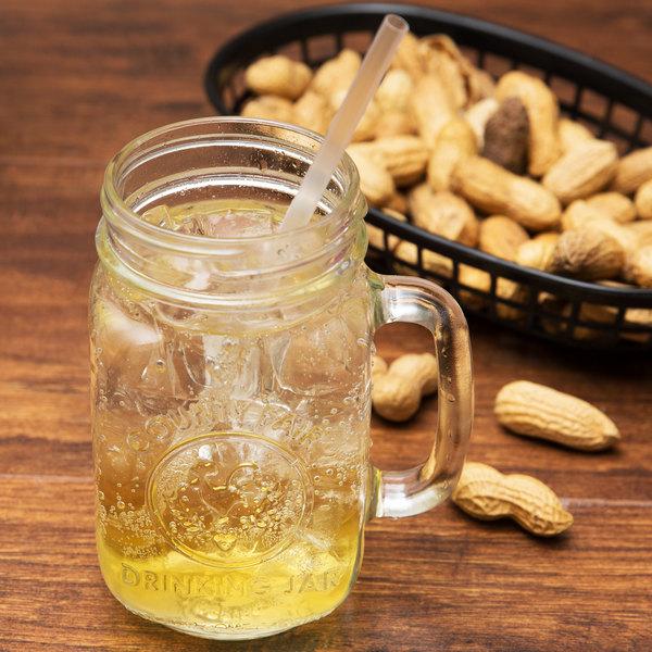 Libbey 97085 16 oz. County Fair Mason Jar / Drinking Jar with Handle - 12/Case