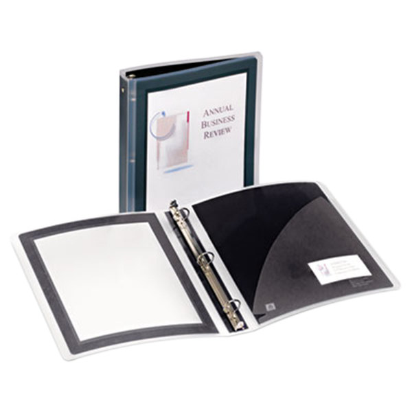 "Avery 17637 Black Flexi-View Binder With 1 1/2"" Round Rings"