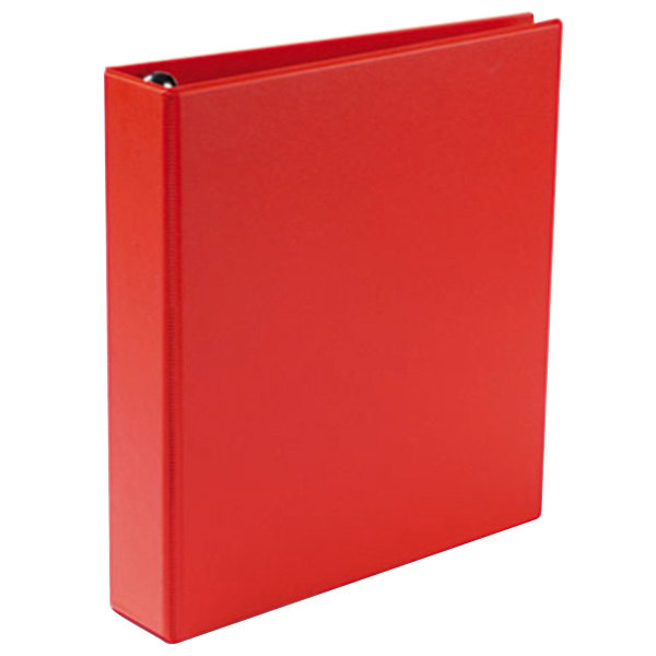 """Avery 79585 Red Heavy-Duty Non-View Binder with 1 1/2"""" Locking One Touch EZD Rings Main Image 1"""