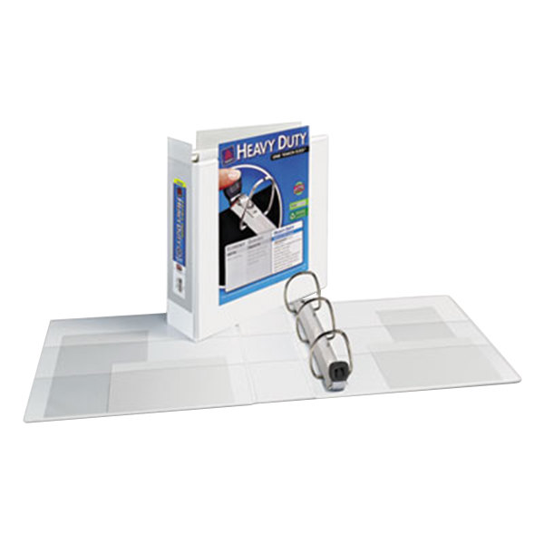 """Avery 1321 White Heavy-Duty View Binder with 3"""" Locking One Touch EZD Rings and Extra-Wide Covers Main Image 1"""