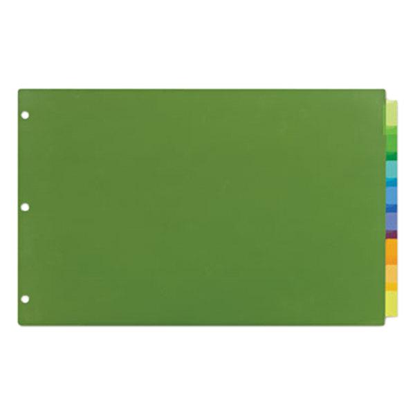 Avery 11179 Big Tab Ledger Size 8-Tab Multi-Color Insertable Plastic Dividers Main Image 1