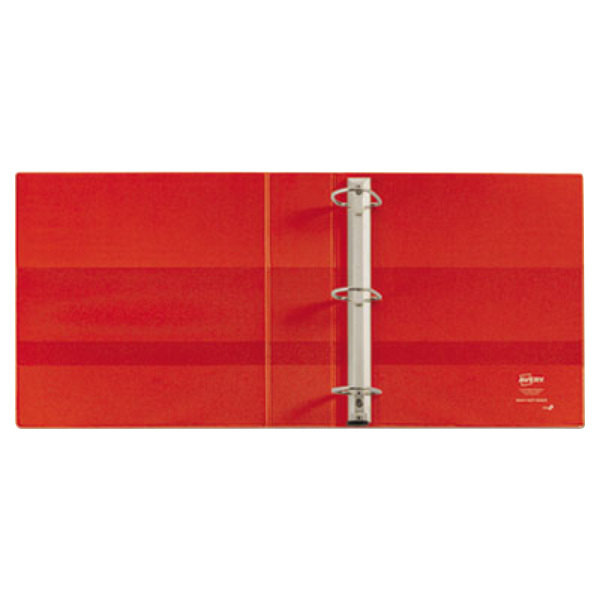 avery 79584 red heavy duty non view binder with 4 locking one touch