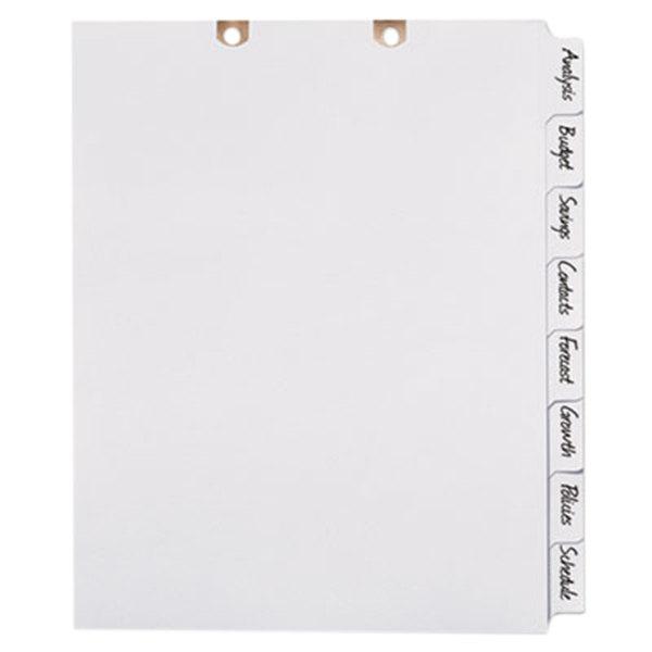 Avery 13161 Big Tab 8-Tab White Paper Side Tab Write-On Dividers
