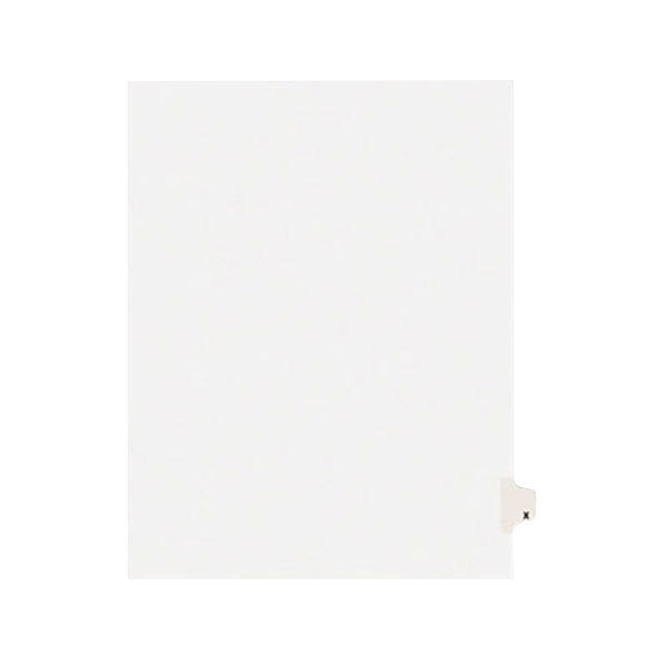 Avery 1424 Individual Legal Exhibit X Side Tab Divider - 25/Pack Main Image 1