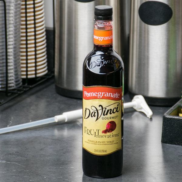 DaVinci Gourmet 750 mL Fruit Innovations Pomegranate Cold Beverage Flavoring / Fruit Syrup Main Image 3