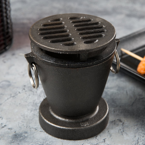 Town 51355 Hibachi Set with Cast Iron Grill and Fuel Holder Main Image 3