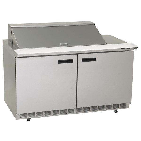"Delfield 4460N-12M 60"" 2 Door Mega Top Refrigerated Sandwich Prep Table"