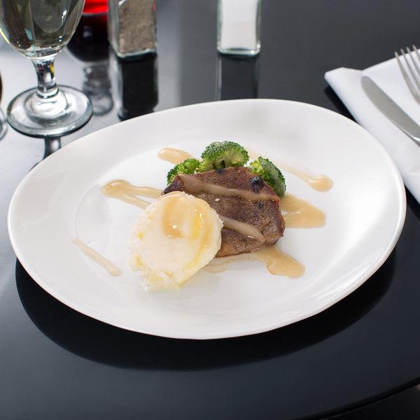 "Arcoroc G9144 Intensity Steak Plate 11 3/4"" x 10"" by Arc Cardinal - 12/Case"