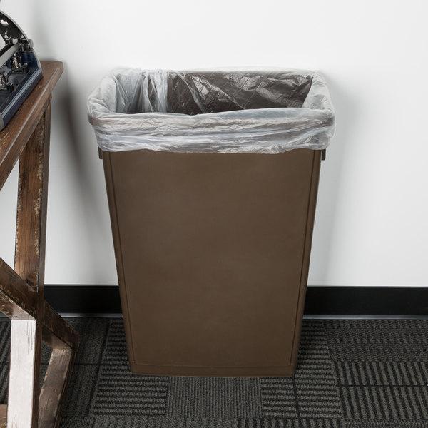 Lavex Janitorial 23 Gallon Brown Slim Trash Can