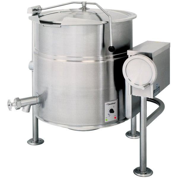 Cleveland KEL-100-T 100 Gallon Tilting 2/3 Steam Jacketed Electric Kettle - 208/240V