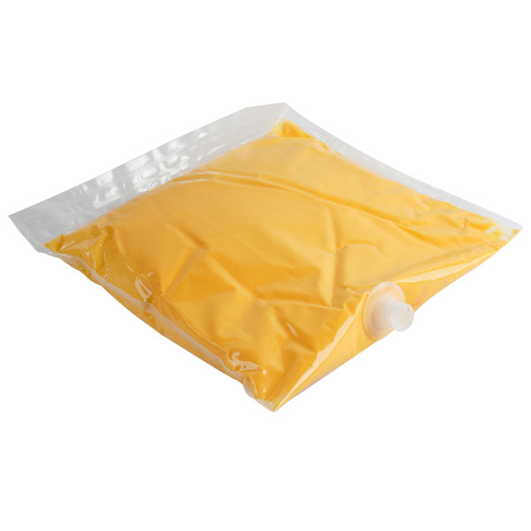 Carnival King 110 oz. Cheddar Cheese Sauce Bag - 4/Case