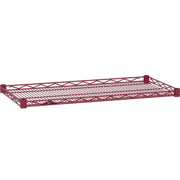"""Metro HDM2136-DF Super Erecta Flame Red Drop Mat Wire Shelf - 21"""" x 36"""""""