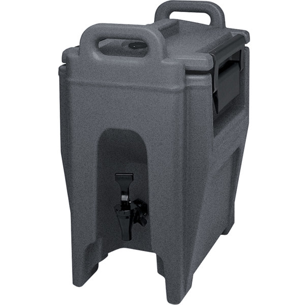 Cambro UC250191 Ultra Camtainers® 2.75 Gallon Granite Gray Insulated Beverage Dispenser