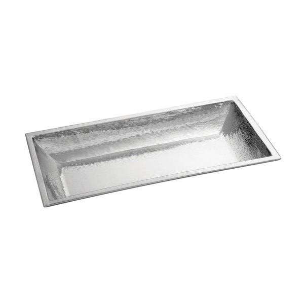 "Tablecraft RB2113 Remington 21 1/4"" x 13"" Rectangular Stainless Steel Bowl"