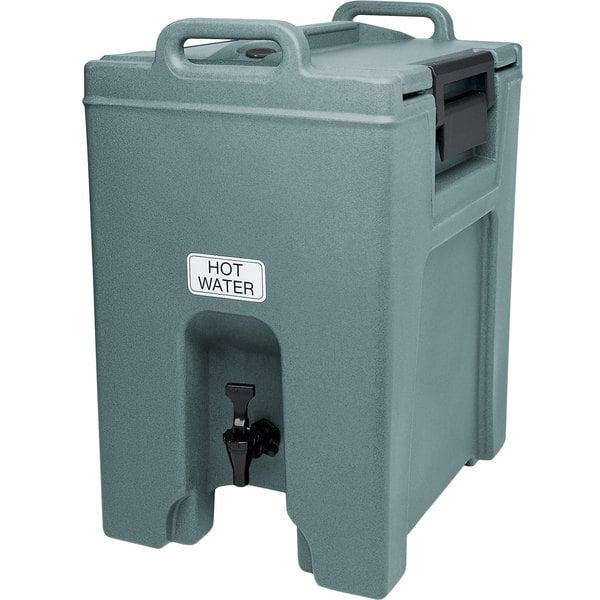 Cambro UC1000401 Ultra Camtainer 10.5 Gallon Slate Blue Insulated Beverage Dispenser